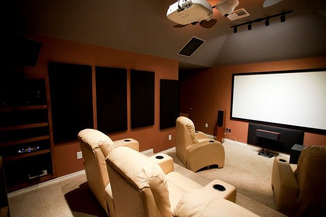 basement man cave cinema