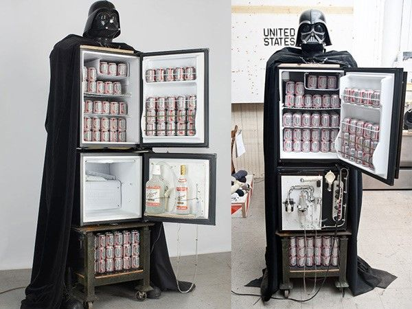 basement man cave fridge